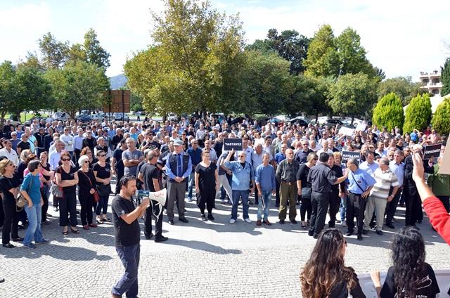 Ankarada ki patlama Selçukta protesto edildi (14)