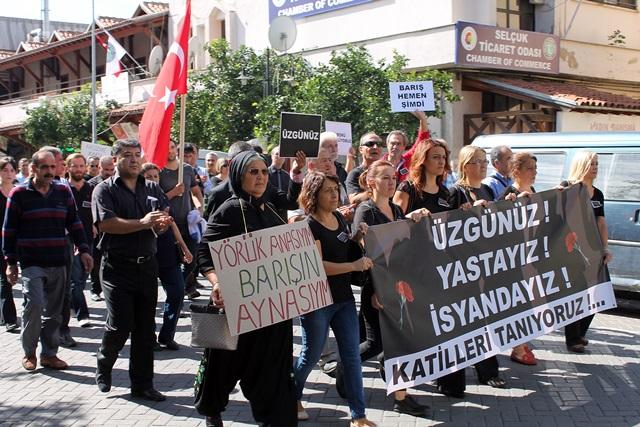 Ankarada ki patlama Selçukta protesto edildi (20)