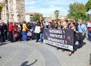 Ankarada ki patlama Selçukta protesto edildi (10)