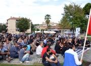 Ankarada ki patlama Selçukta protesto edildi (3)