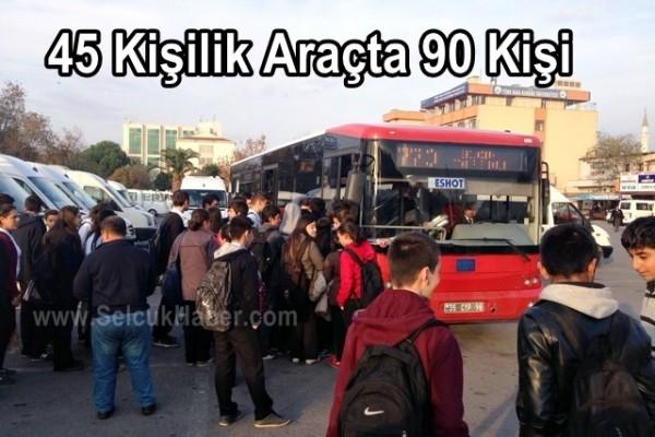 45 Kişilik Araçta 90 Kişi