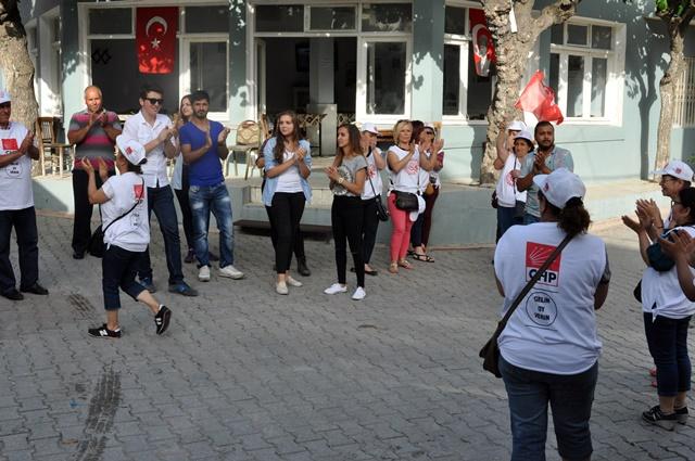 CHP İlçe Örgütünden Gökçealan Ziyareti (2)