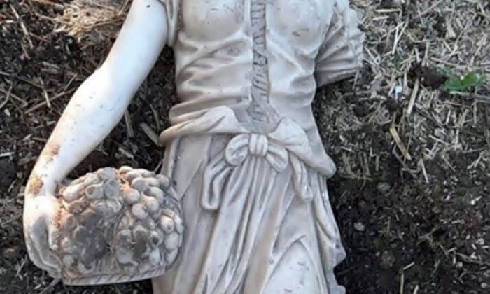 140 santimlik kadın haykeli ile yakalandı