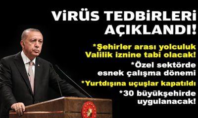 Cumhurbaşkanı açıkladı: Virüse karşı olağanüstü tedbirler!