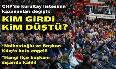 CHP'de kurultay listesinin kazananları değişti: Kim girdi, kim düştü?