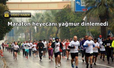 Maraton heyecanı yağmur dinlemedi