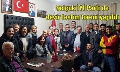 Selçuk İYİ Parti de devir teslim töreni yapıldı